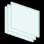 Driedubbel vensterglas